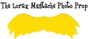 Lorax mustache clipart.