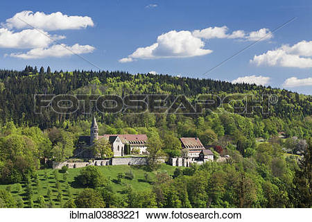 """Stock Photography of """"Benedictine Abbey of Lorch, Rems Valley."""