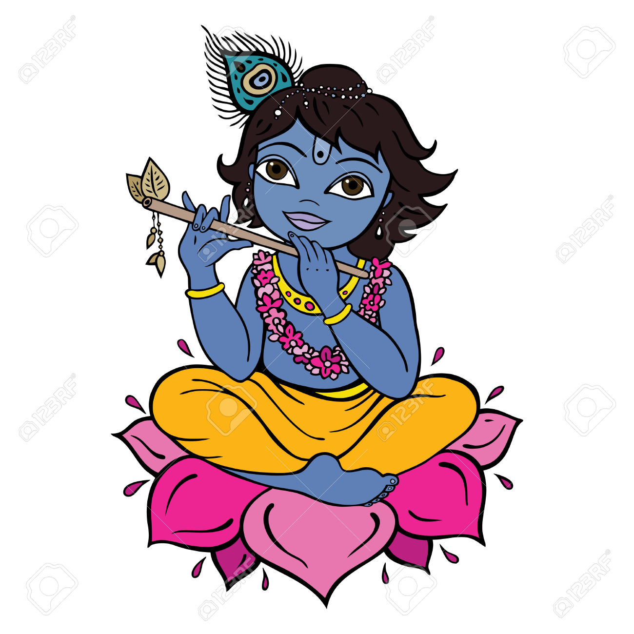 Clipart Lord Krishna.