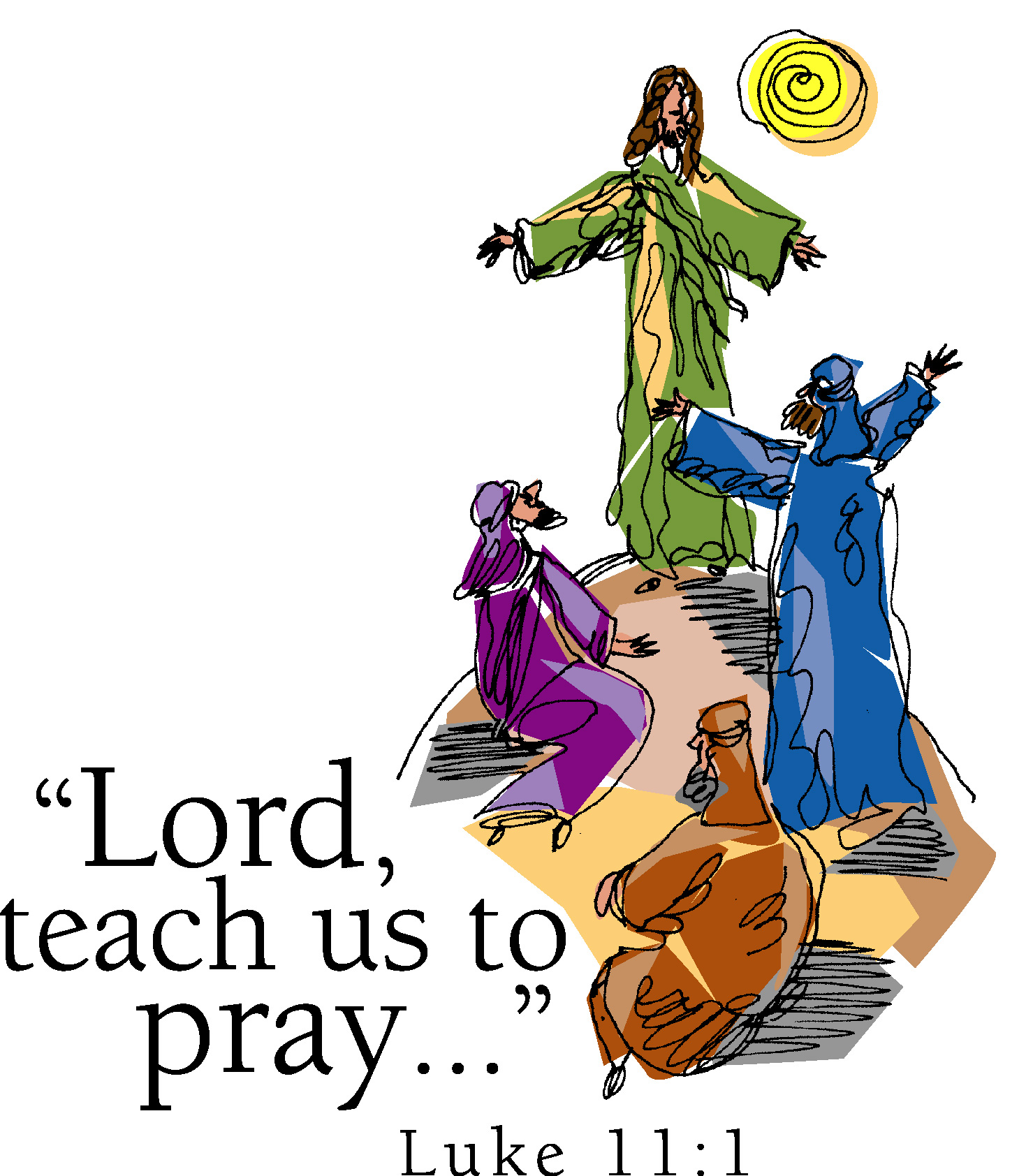 Lords prayer clipart.