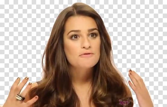 Lea Michele shoot Loreal transparent background PNG clipart.