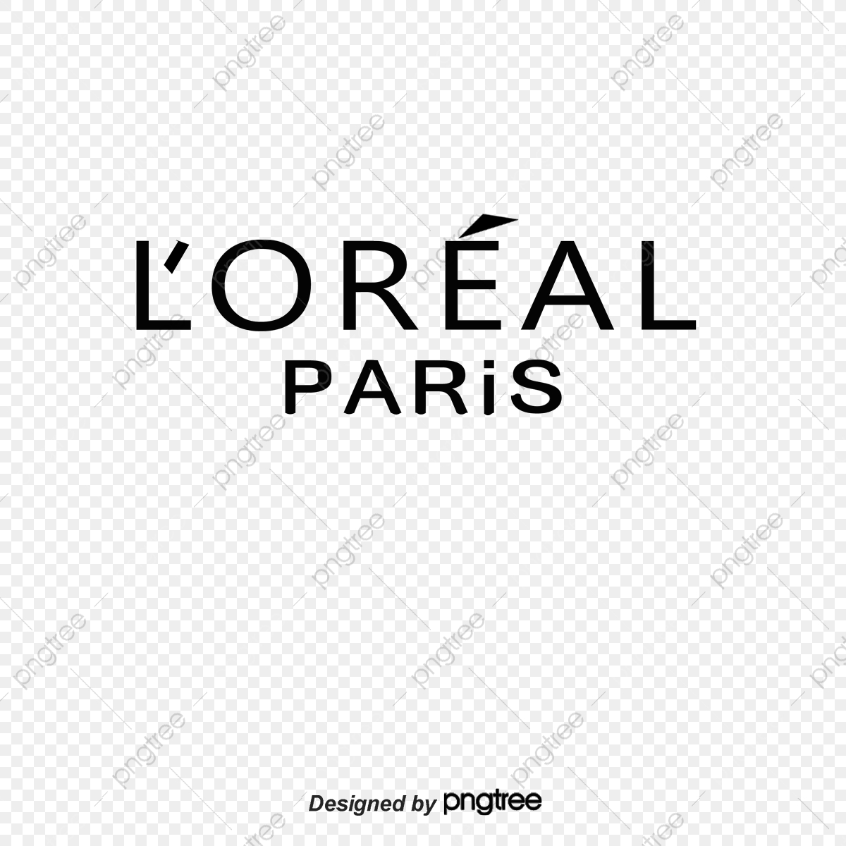 Loreal Paris Label Vector, English Alphabet, Black, Logo PNG.