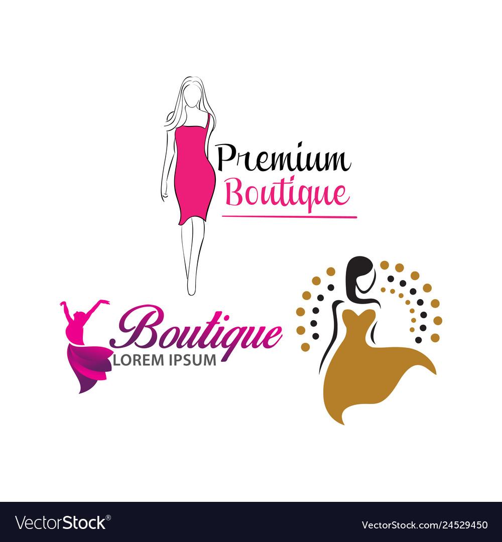 Women shape beauty logo design.
