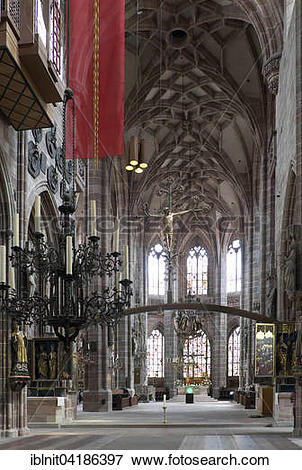 Picture of Lorenzkirche, St. Lawrence Church, Nuremberg, Middle.