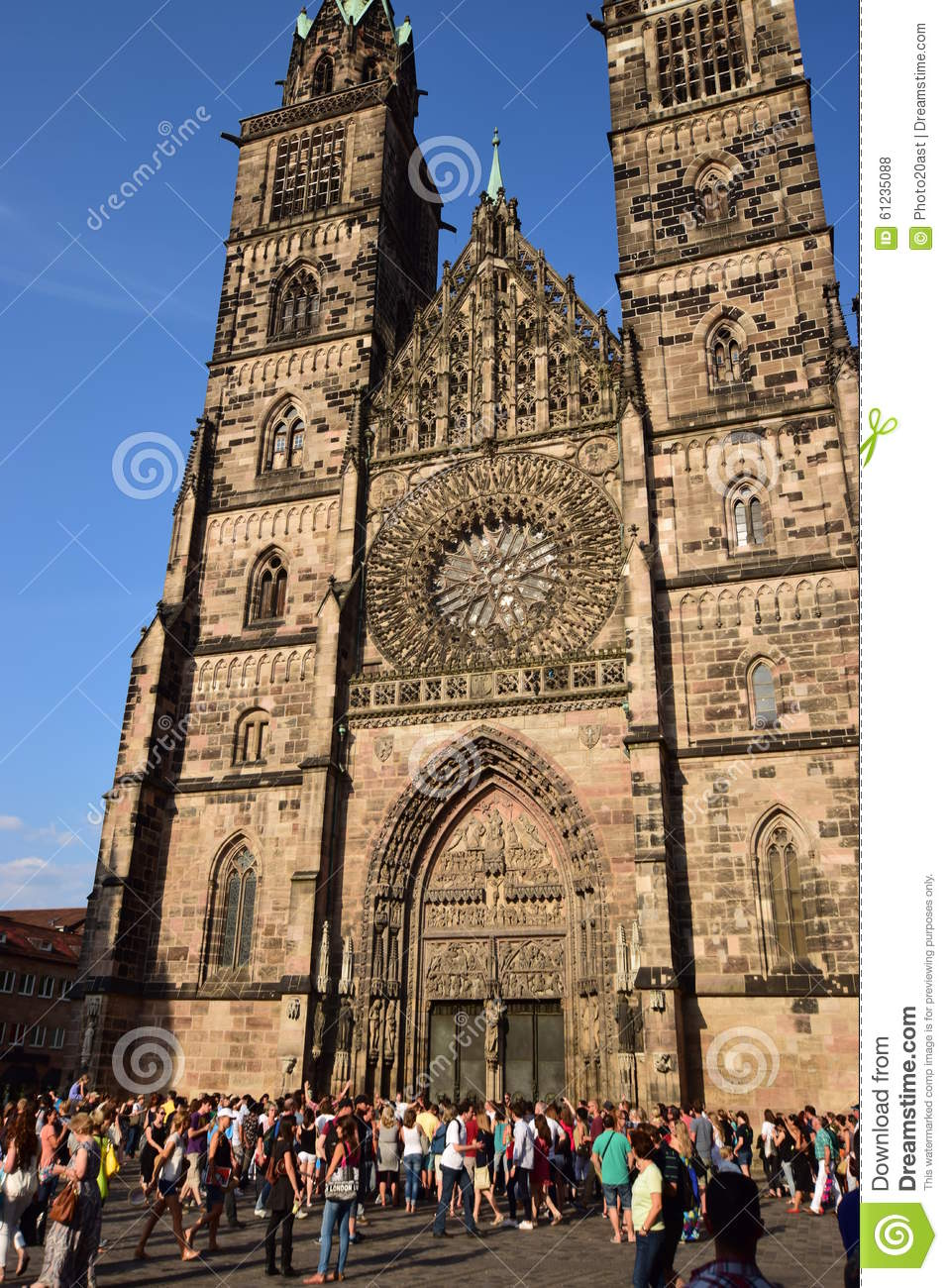 St Lawrence Church (LORENZKIRCHE) In Nuremberg, Germany Editorial.