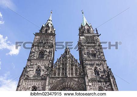 "Stock Image of ""Lorenzkirche church, Nuremberg, Middle Franconia."