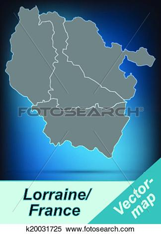 Clipart of Map of lorraine k20031725.