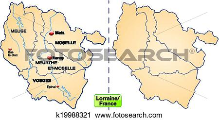 Clipart of Map of lorraine k19988321.