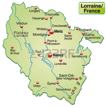 Map Of Lorraine Stock Vector Illustration And Royalty Free Map Of.