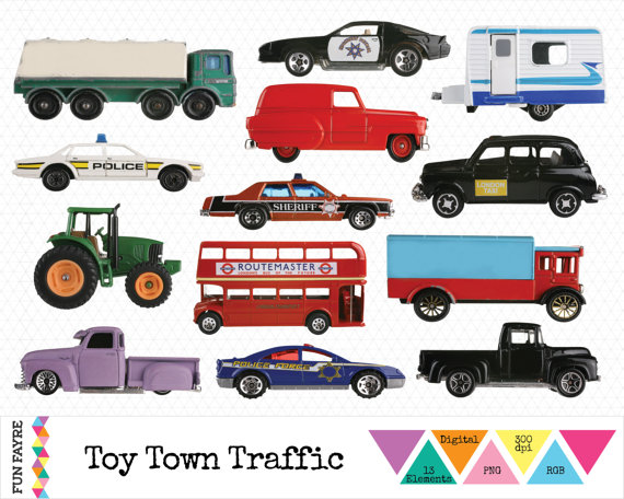 TRANSPORT CLIP ART Digital Toy Transport Lorries by FunFayre.