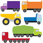 Clipart of different types of trucks k5529661.