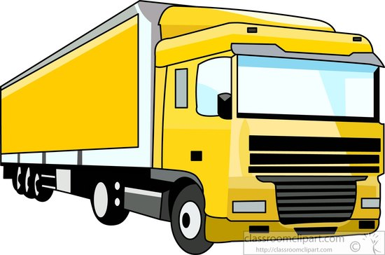 YELLOW LORRY CLIPART.