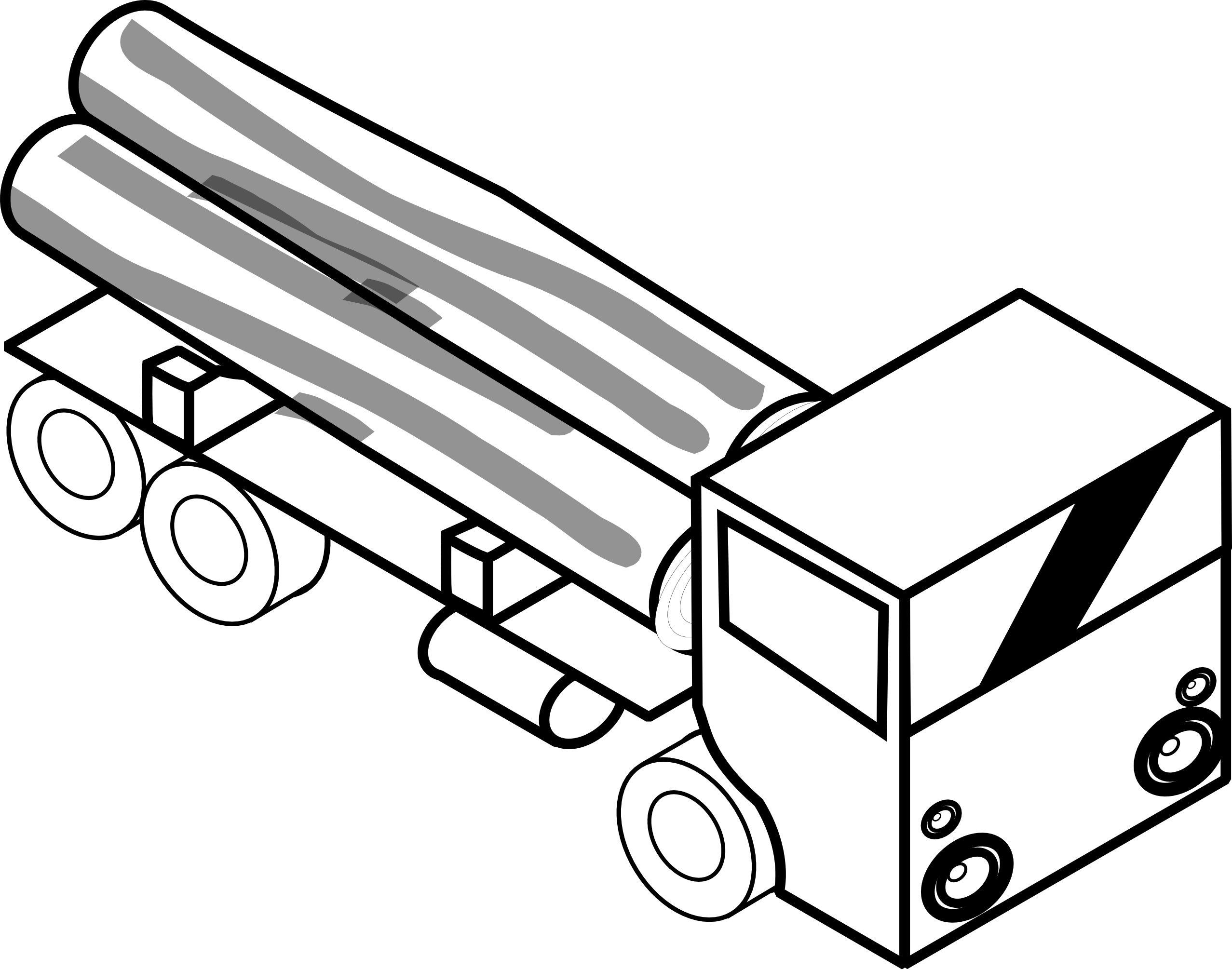 Fire Truck Clipart Black And White.