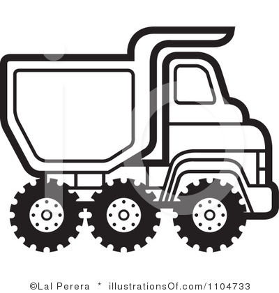 lorry clipart black and white #9