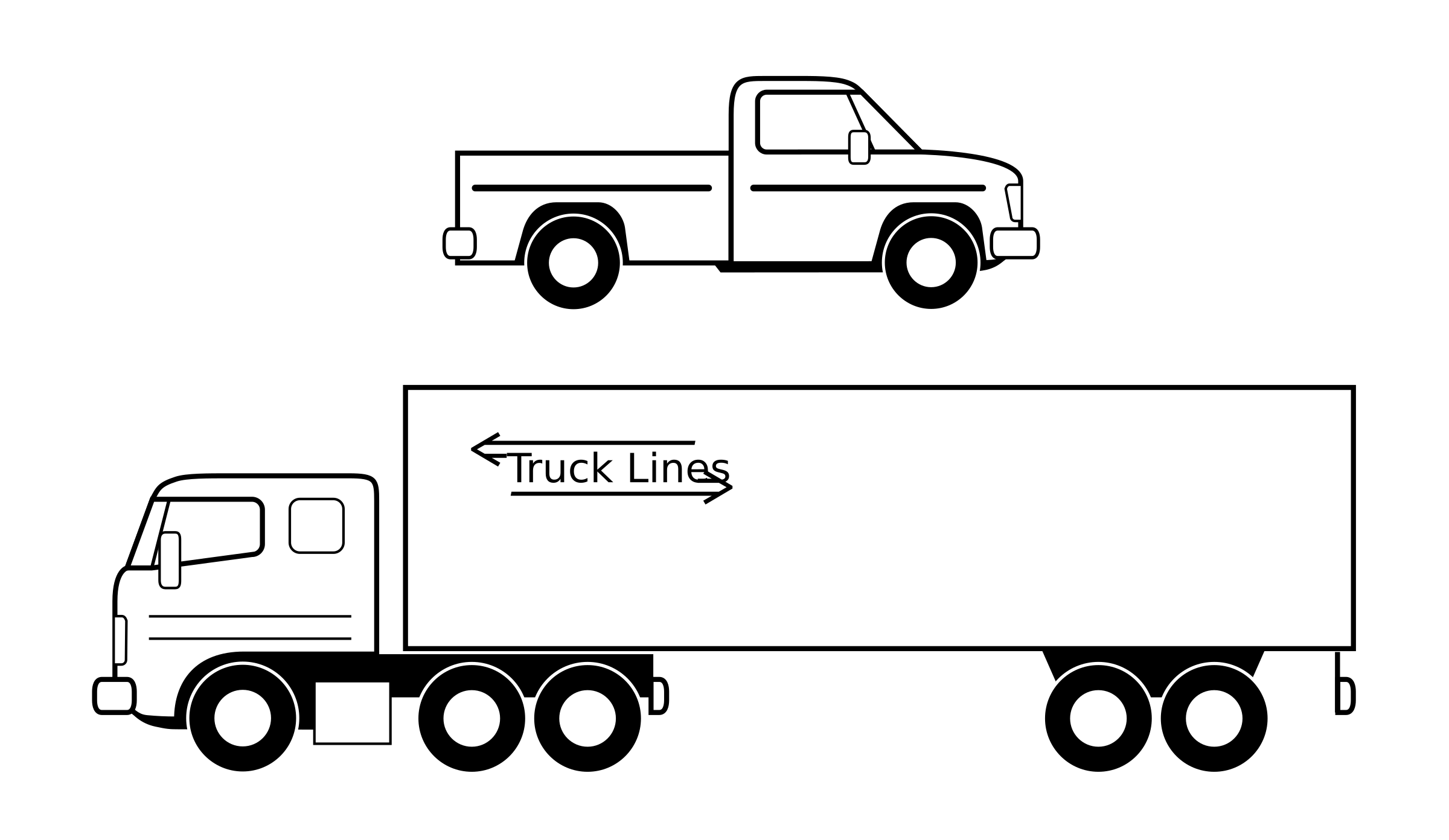 Pickup Truck Clipart Black And White Truck Clipart, Truck Black.