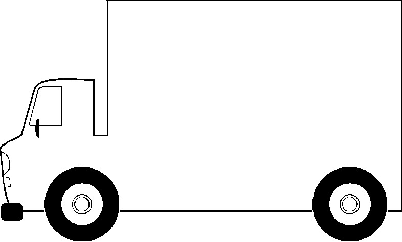 Truck clip art black and white free clipart images clipartcow 3.