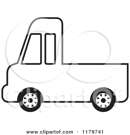 lorry clipart black and white.