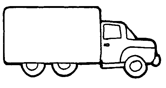 lorry clipart black and white #3