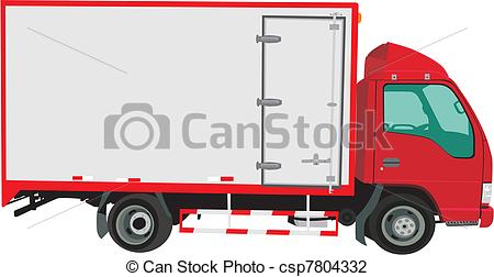 Vectors Illustration of Small lorry.