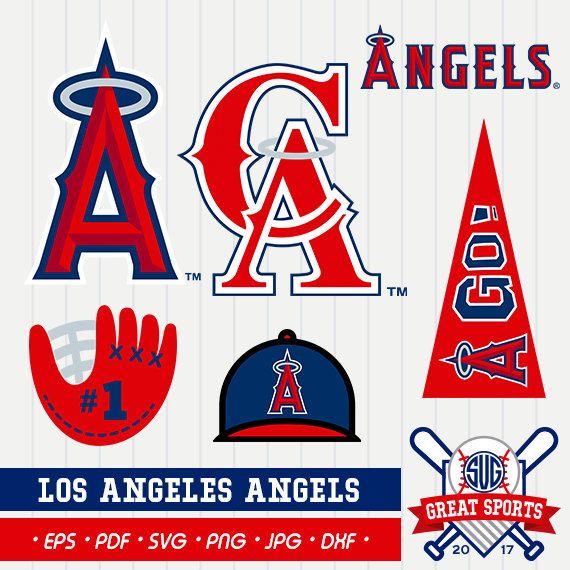 Los Angeles Angels SVG, Angels Clipart, Angels SVG, Los.