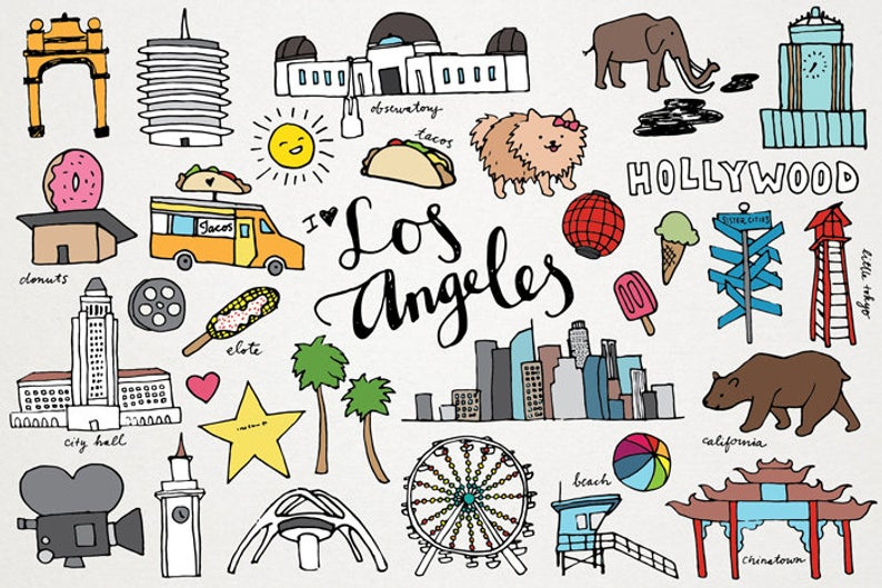 Los Angeles Clipart.