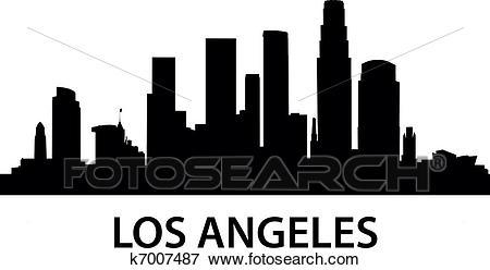 Skyline Los Angeles Clip Art.