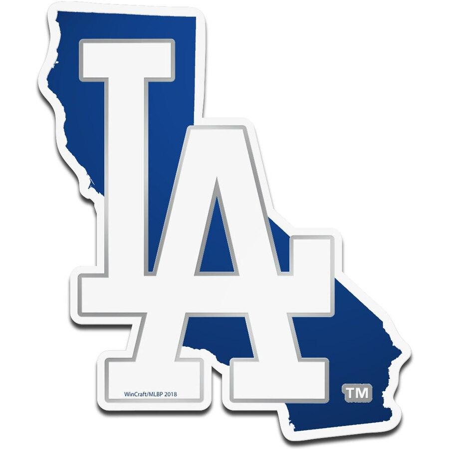 WinCraft Los Angeles Dodgers Metallic State Shape Acrylic Auto Emblem.