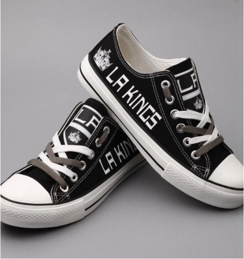 Los Angeles Kings Shoes Hockey Team Sneakers Canvas Kings Logo Edition.