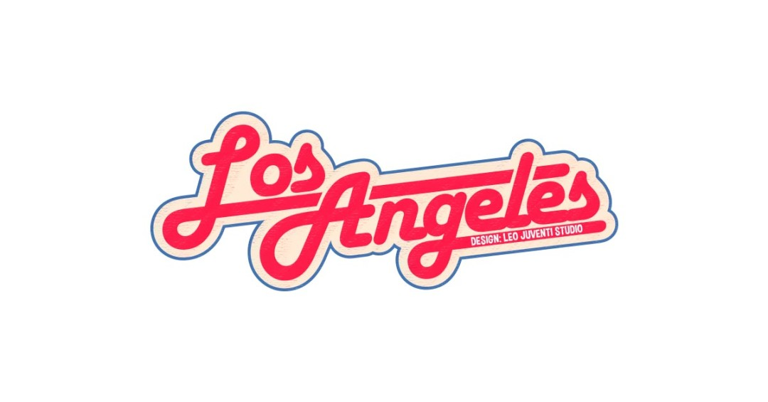 Los Angeles Retro Sign Vector and PNG.