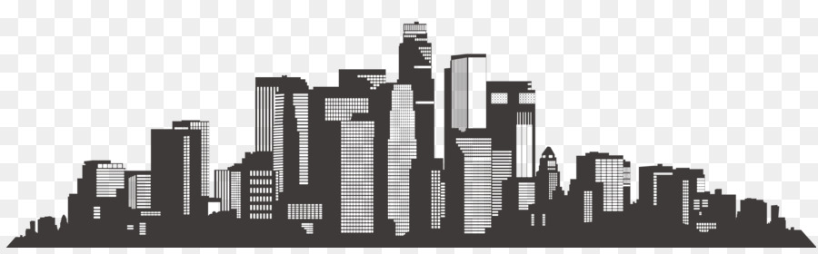 Download Free png Los Angeles Skyline Silhouette Scalable.
