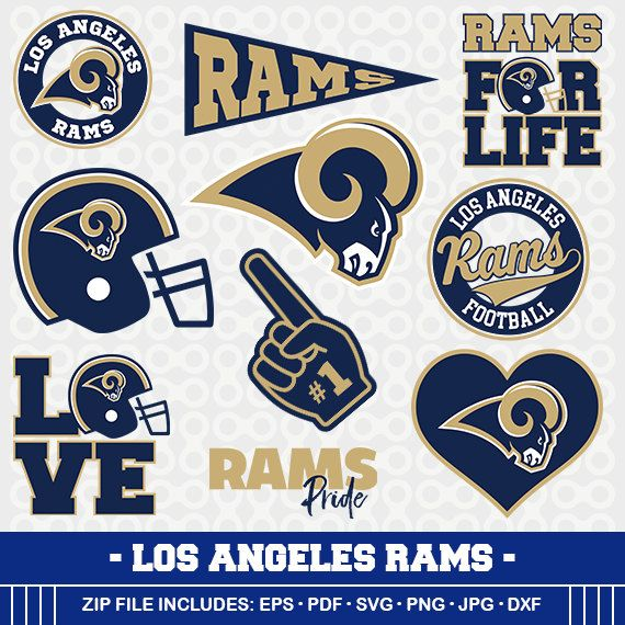 Los Angeles Rams Svg Files, Football Clipart, Svg Cameo.
