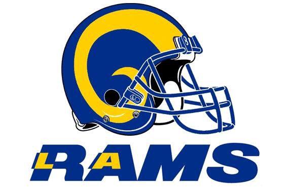 LA Rams helmet logo.