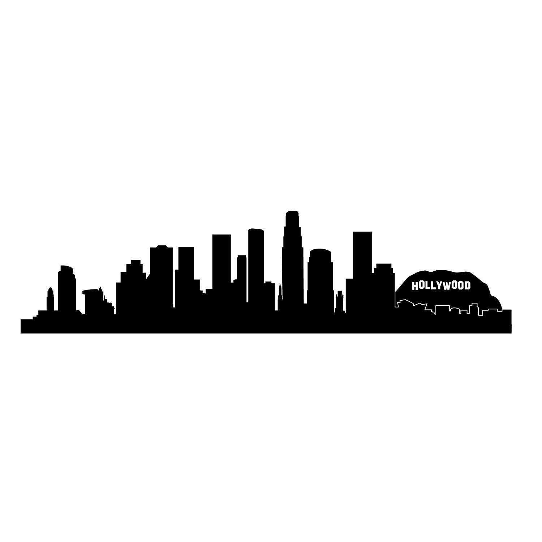 Los Angeles Skyline Silhouette, Small, Black.