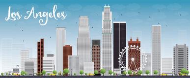 Vector Illustration Of Los Angeles California Cityscape Skyline.