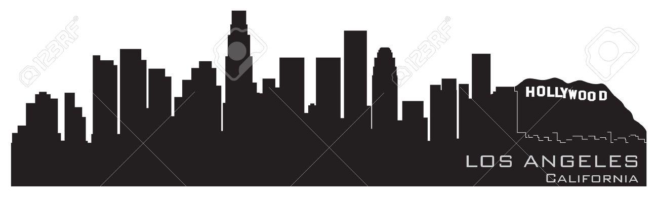 La skyline silhouette clipart.