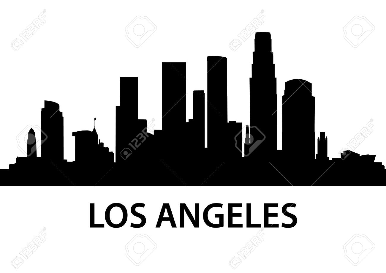 Los angeles skyline clipart free.