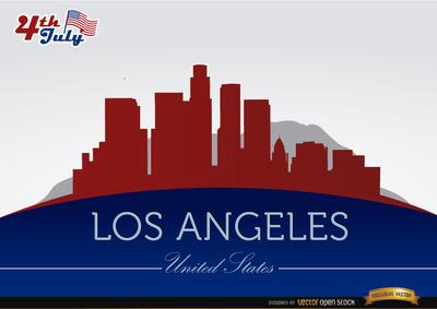 Los Angel Skyline Clip Art, Vector Los Angel Skyline.
