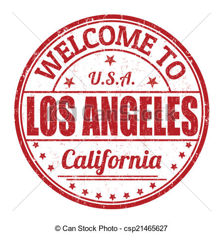 Vector Illustration of Welcome to Los Angeles stamp.