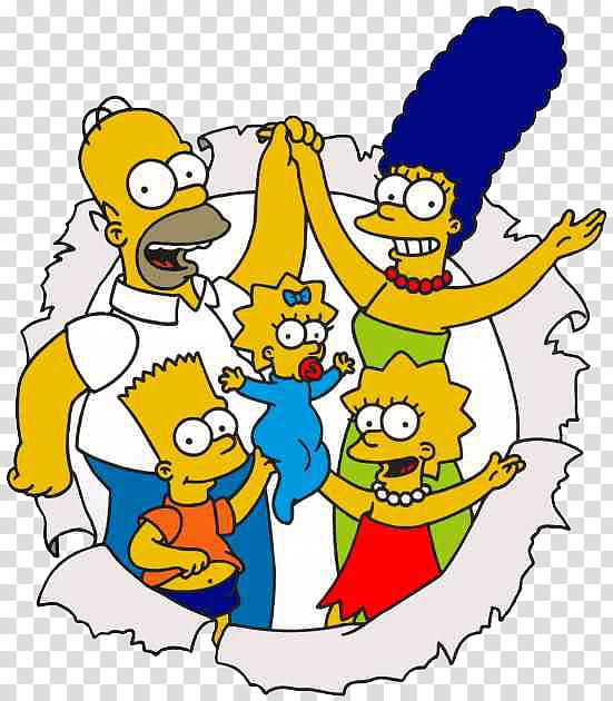 Los Simpsons, The Simpsons illustration transparent.