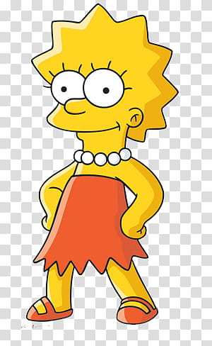 Los Simpsons texto P, Lisa Simpson illustration transparent.