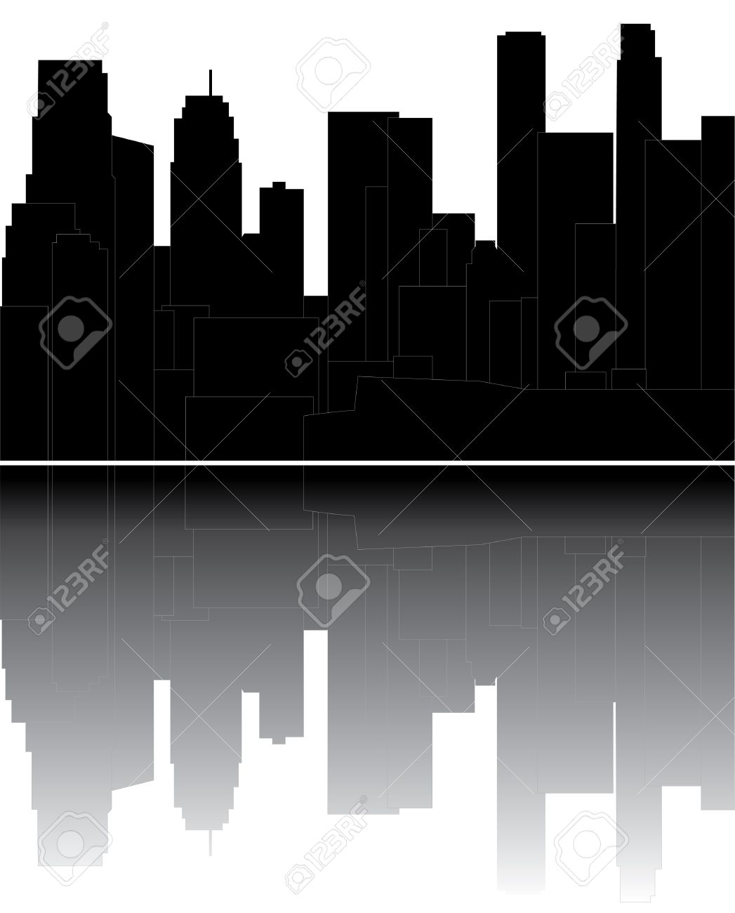 Los Angeles Skyline Royalty Free Cliparts, Vectors, And Stock.