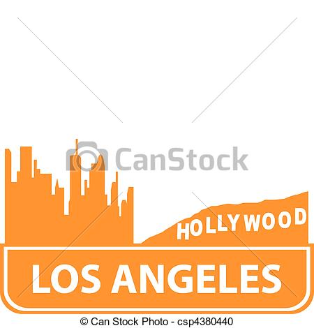 Vector Clipart of Los Angeles outline. Vector illustration for you.