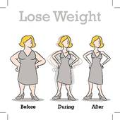 Lose Weight Woman Clip Art.