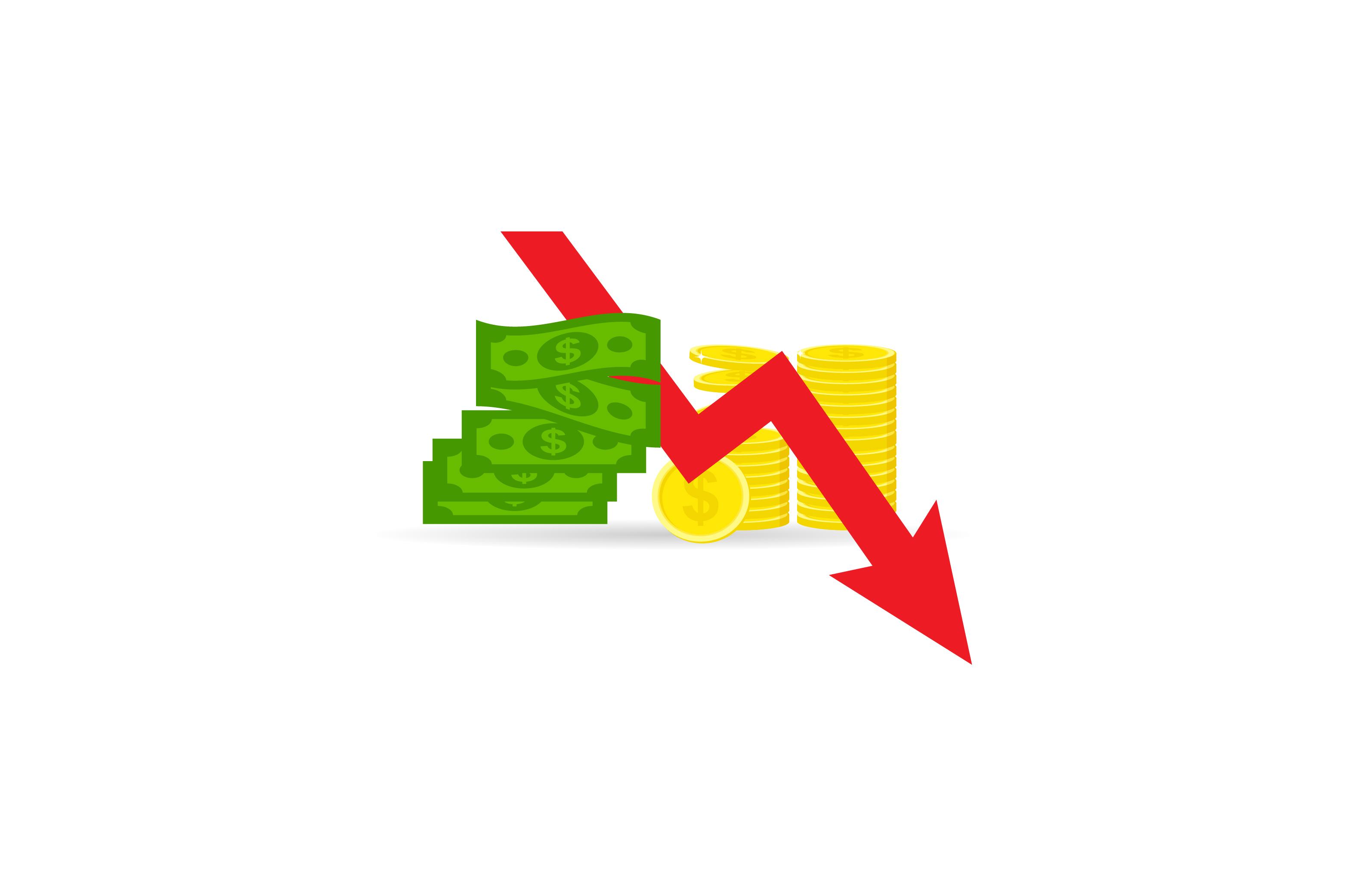 Money loss vector illustration.