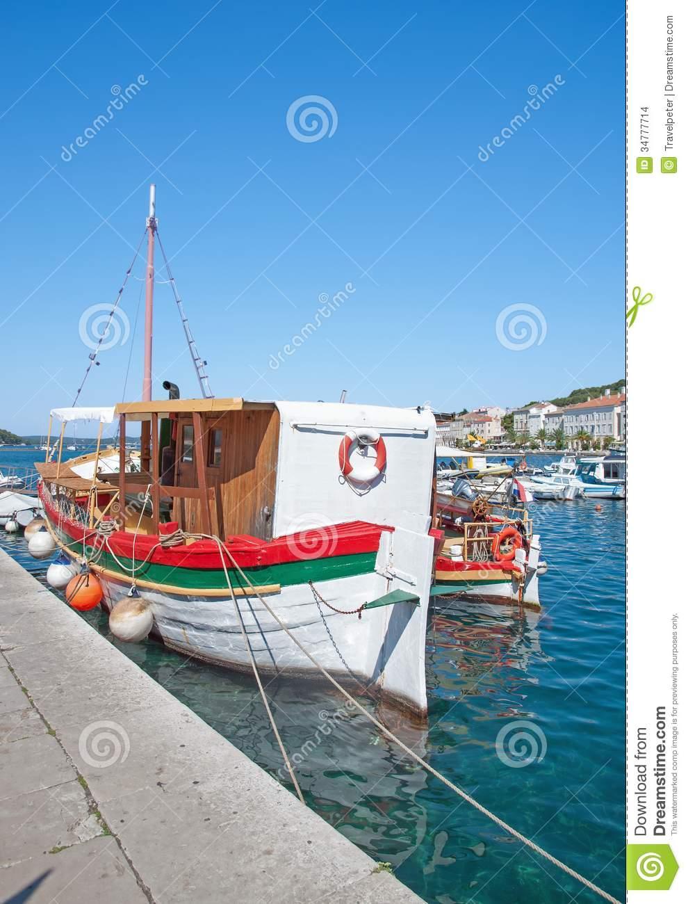 Mali Losinj,Losinj Island,adriatic Sea,Croatia Stock Images.