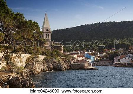 Stock Photography of Harbor entrance with Saint Basil's Church.