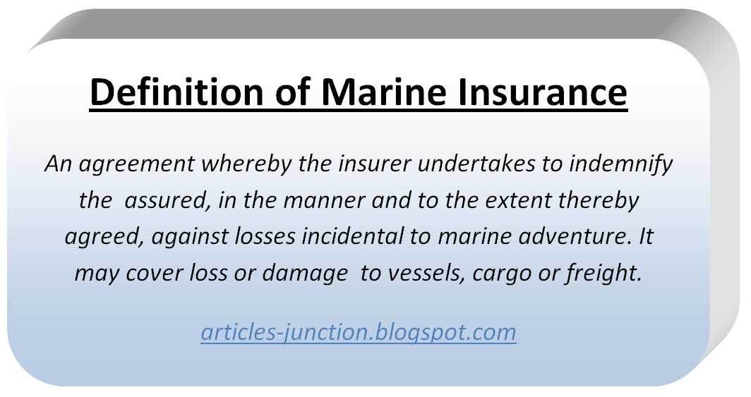 Types of Marine Insurance Policies.