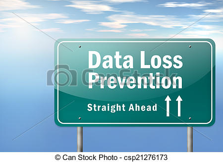 Stock Illustrations of Highway Signpost Data Loss Prevention.
