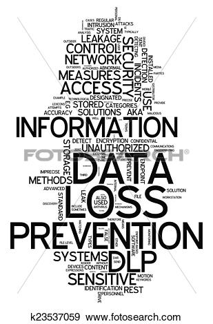Stock Illustration of Word Cloud Data Loss Prevention k23537059.
