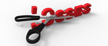 CUTTING Losses Stock Illustration.